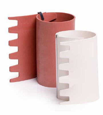 Ассортимент прокладок для трубных хомутов