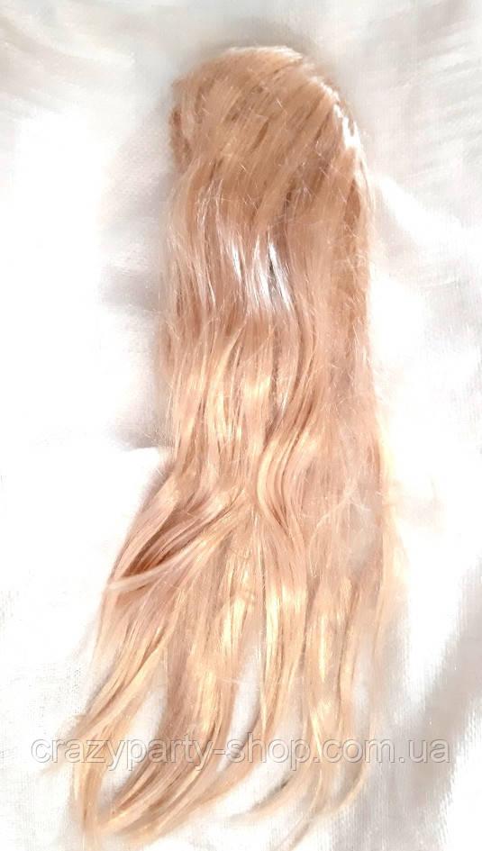 Карнавальный парик женский длинные волосы блонд б/у