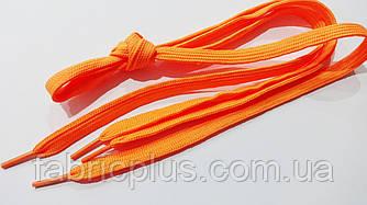 Шнурки в кроссовки плоские 100 см оранжевые (10 мм)