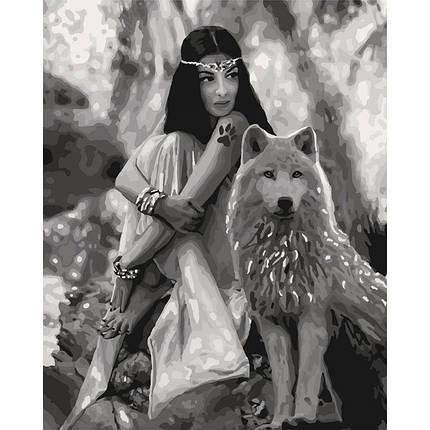 "Картина по номерам.""Волчица"" 40*50см KHO4139, фото 2"