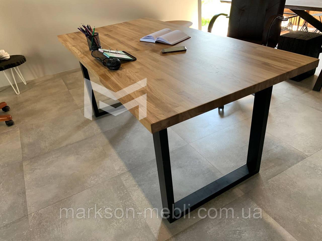 Кухонный стол Далас в стиле Лофт с массива Дуба, М901