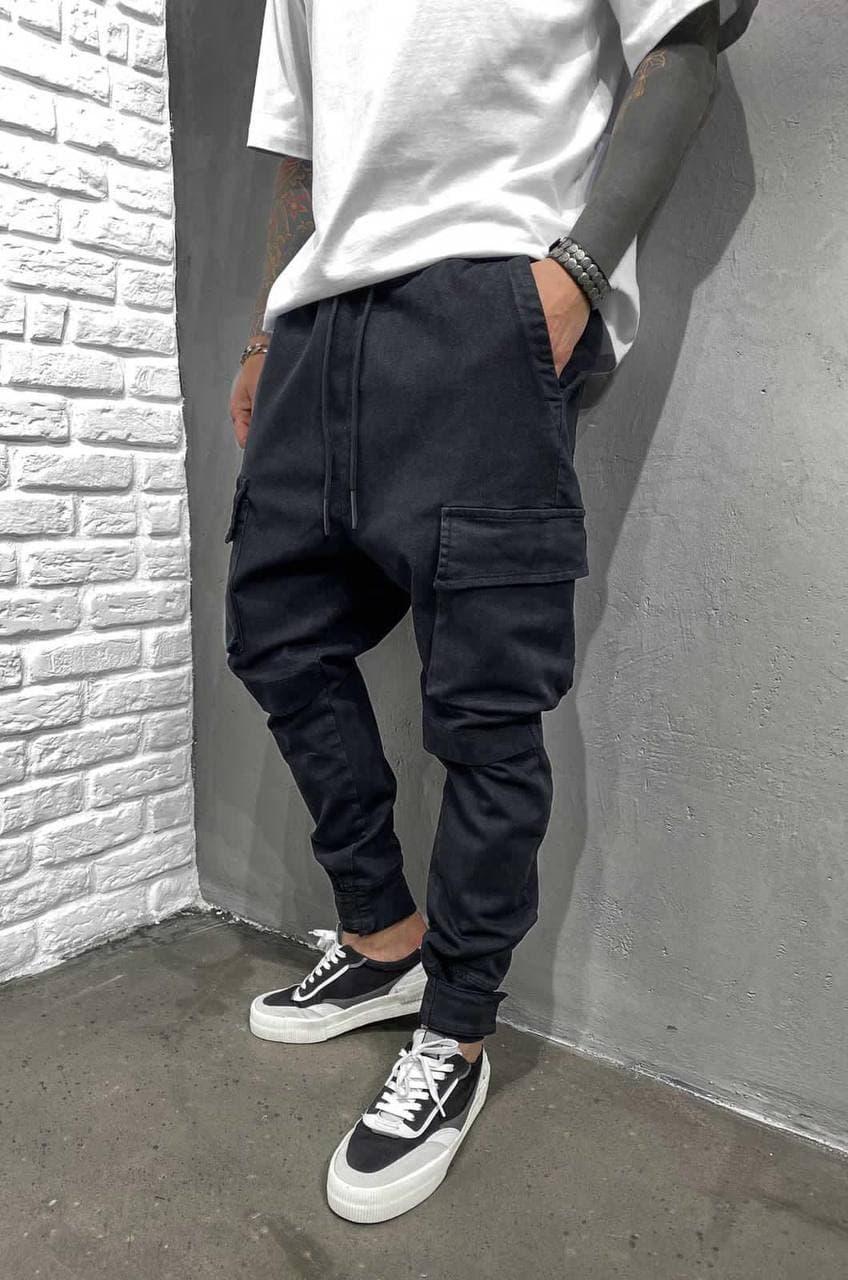 Чоловічі джинси-карго Black Island 5923 Black