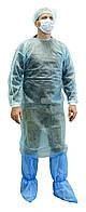 Одноразовий халат хірургічний на зав'язках