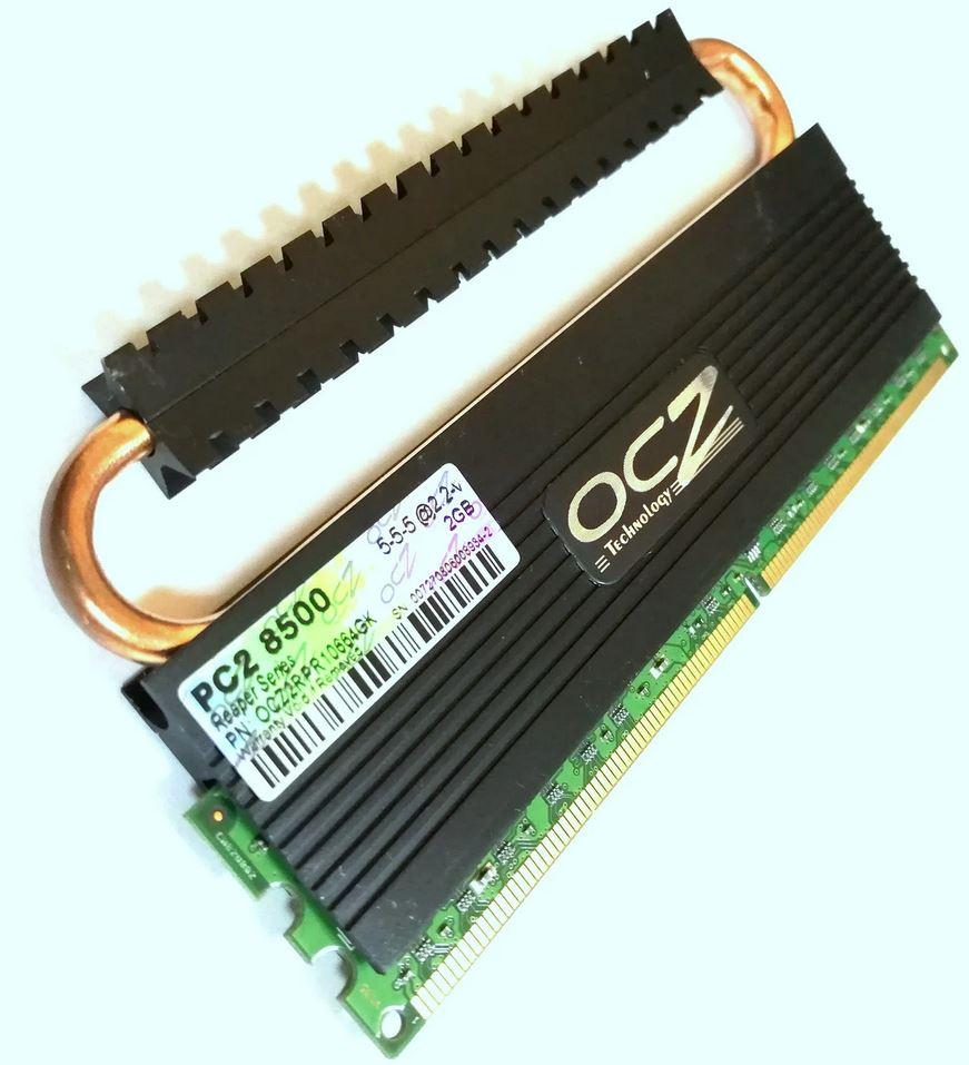 Геймерская память OCZ DDR3-1800 2Gb (OCZ3RPR1800LV6GK) PC3-14400 CL8, бу
