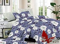 ТМ TAG Комплект постельного белья с компаньоном, Сатин, Комплект постільної білизни S211