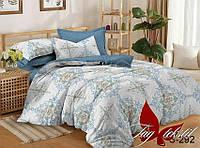 ТМ TAG Комплект постельного белья с компаньоном S292, Сатин, Комплект постільної білизни з компаньйоном S292