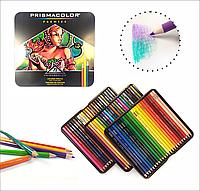 Цветные карандаши Америка Prismacolor 72 цвета в металлическом пенале VIP