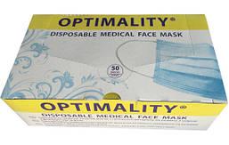 Маски медицинские трехслойные OPTIMALITY® на двух резинках (заушных петлях) 50 шт
