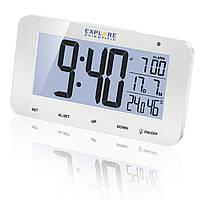 Часы настольные Explore Scientific RC Alarm White (RDC1004GYELC2)