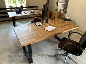 Стол кухонный Далас в стиле LOFT с массива Дуба, М901