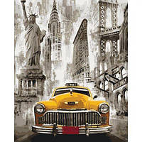 """Картина по номерам """"Такси Нью-Йорка"""" , Идейка, картины по номерам,рисование по номерам,живопись по"""