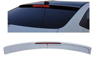 Козырёк на стекло Hyundai Accent 2011-2015 со стопом ABS пластик под покраску