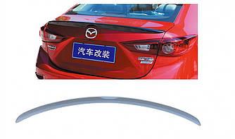 Спойлер лип багажника Mazda 3 SD 2013- АBS пластик под покраску