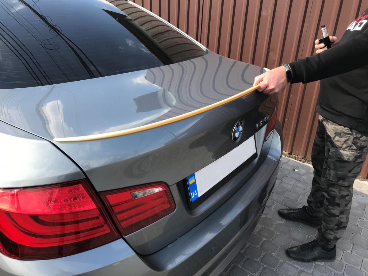 Спойлер лип на багажник BMW series F10 5 2010-2016 ABS пластик