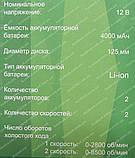 Аккумуляторная полировальная машина Минск МПМА-12 (12 V), фото 8