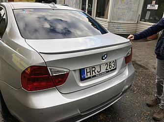Спойлер-лип багажник BMW 3 series E90 2005-2011 ABS пластик под покраску