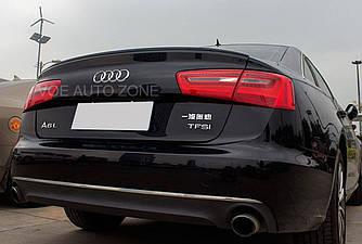 Спойлер лип на багажник Audi A6 С7 2011- ABS пластик под покраску