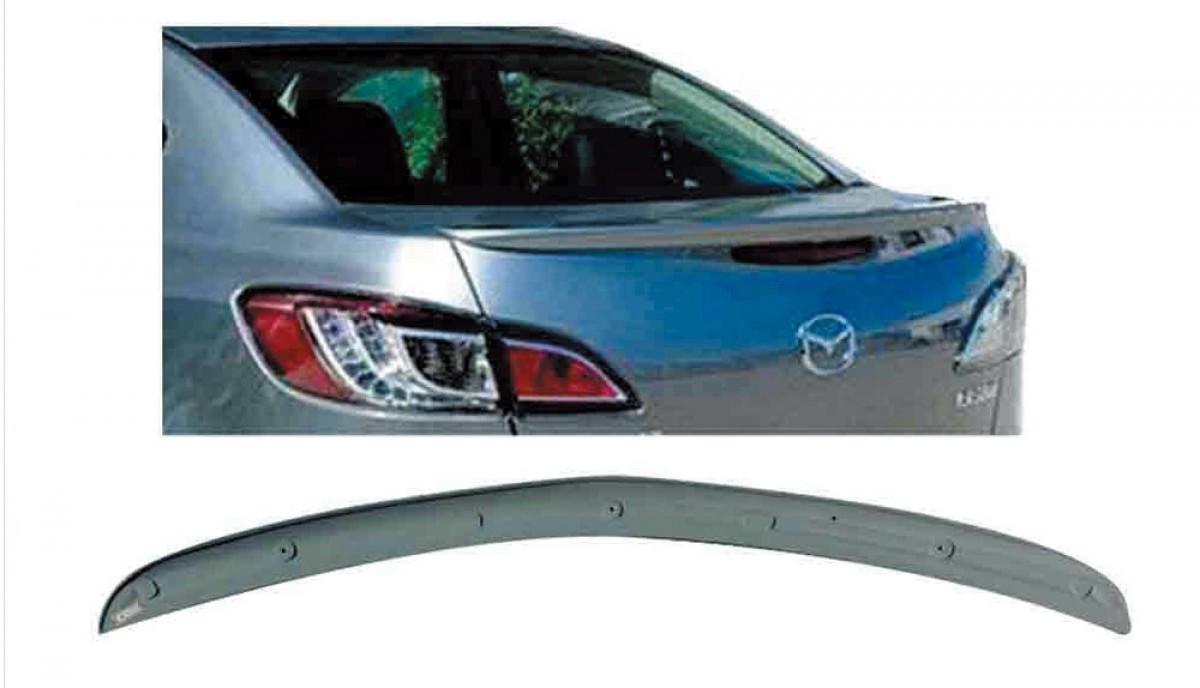 Спойлер лип на багажник Mazda 3 2009-2013 седан, ABS пластик под покраску