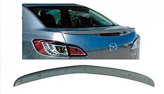 Спойлер лип на багажник Mazda 3 2009-2013 седан, ABS пластик під фарбування