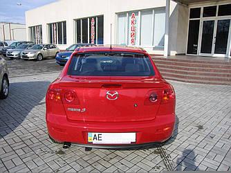 Спойлер лип багажника Mazda 3 2004-2009 ABS пластик під фарбування