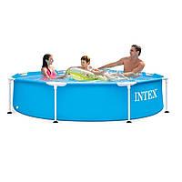 Каркасный бассейн Intex 28205-2 New, 244 x 51 см (тент, подстилка), фото 1