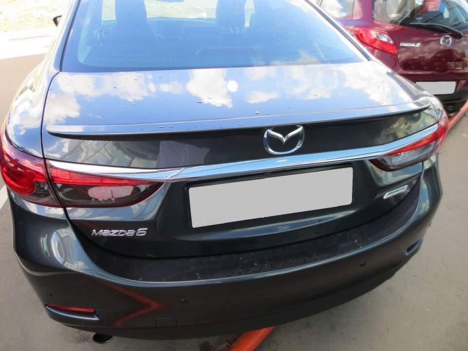 Спойлер лип на багажник Mazda 6 2013- ABS пластик под покраску