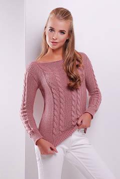 Стильный женский свитер роза 42-48