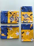 Постельное белье подростковое Бязь Mиньоны Звездная команда, фото 3