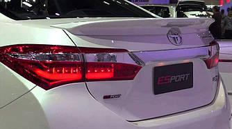 Спойлер на багажник Toyota Corolla 2013-2018 со стоп сигналом версии ESPORT в черном цвете