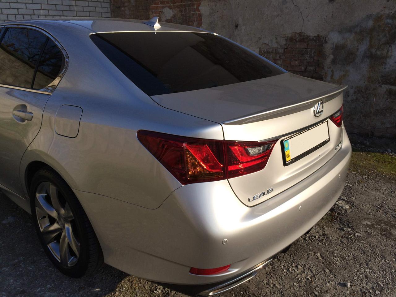 Спойлер лип багажника Lexus GS 2012-
