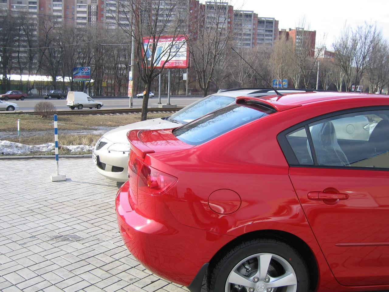 Спойлер лип багажника Mazda 3 2004-2009 скловолокно під фарбування