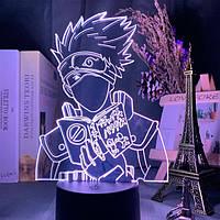 Настольный светильник-ночник Какаши Хатаке Naruto настольная 3D Лампа PUBG16 Цветов (7708)