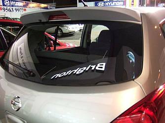 Спойлер козырек Nissan Tiida 2006-2013 ABS пластик под покраску