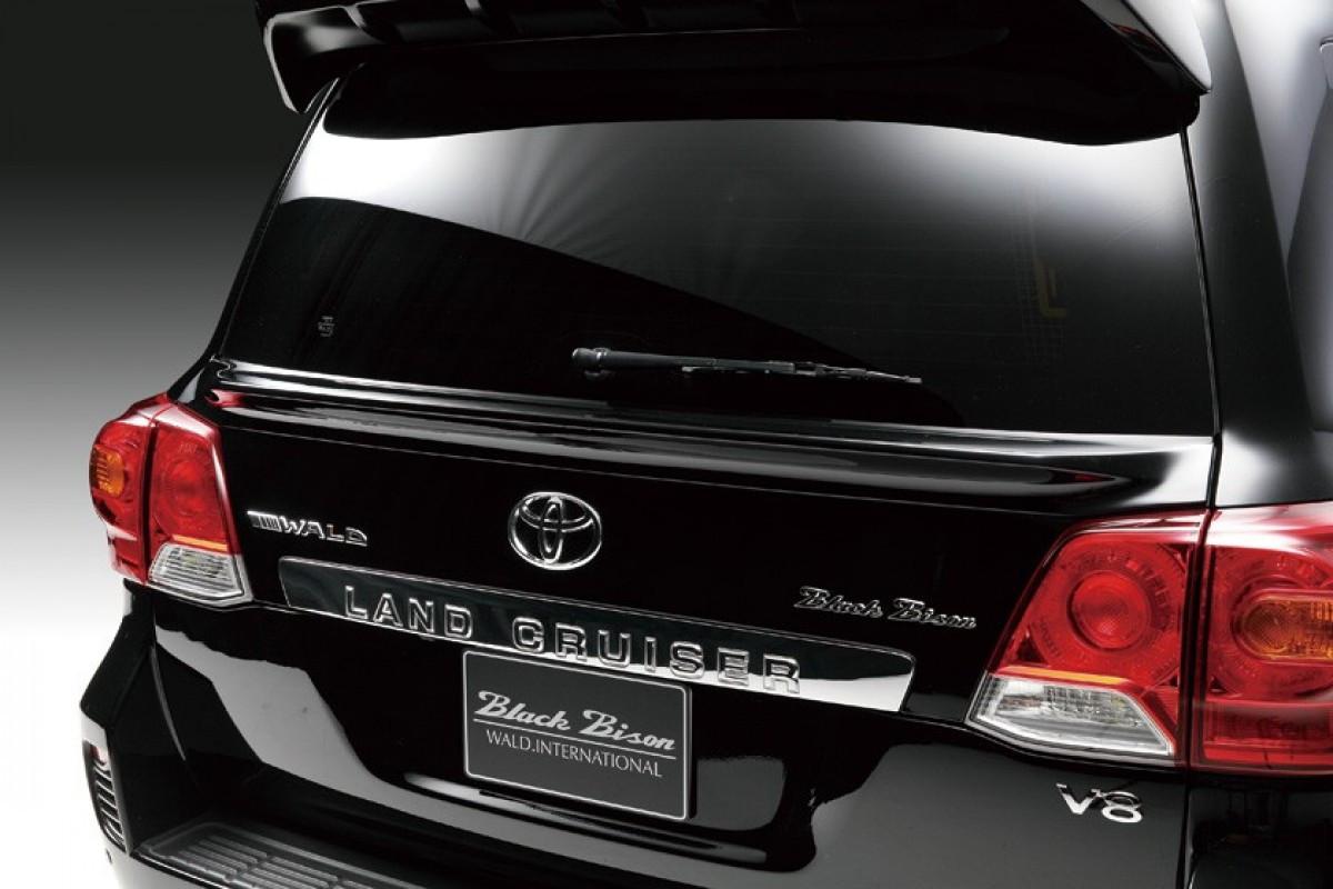 Спойлер під скло WALD Toyota Land Cruiser 200 2008-2016 ABS пластик колір чорний