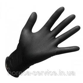 Перчатки нитриловые неопудренные черные размер S 50 пар