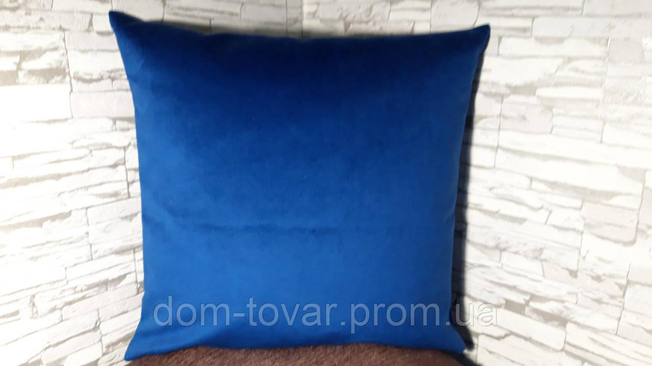 Наволочка декоративная 40х40 темно-синяя