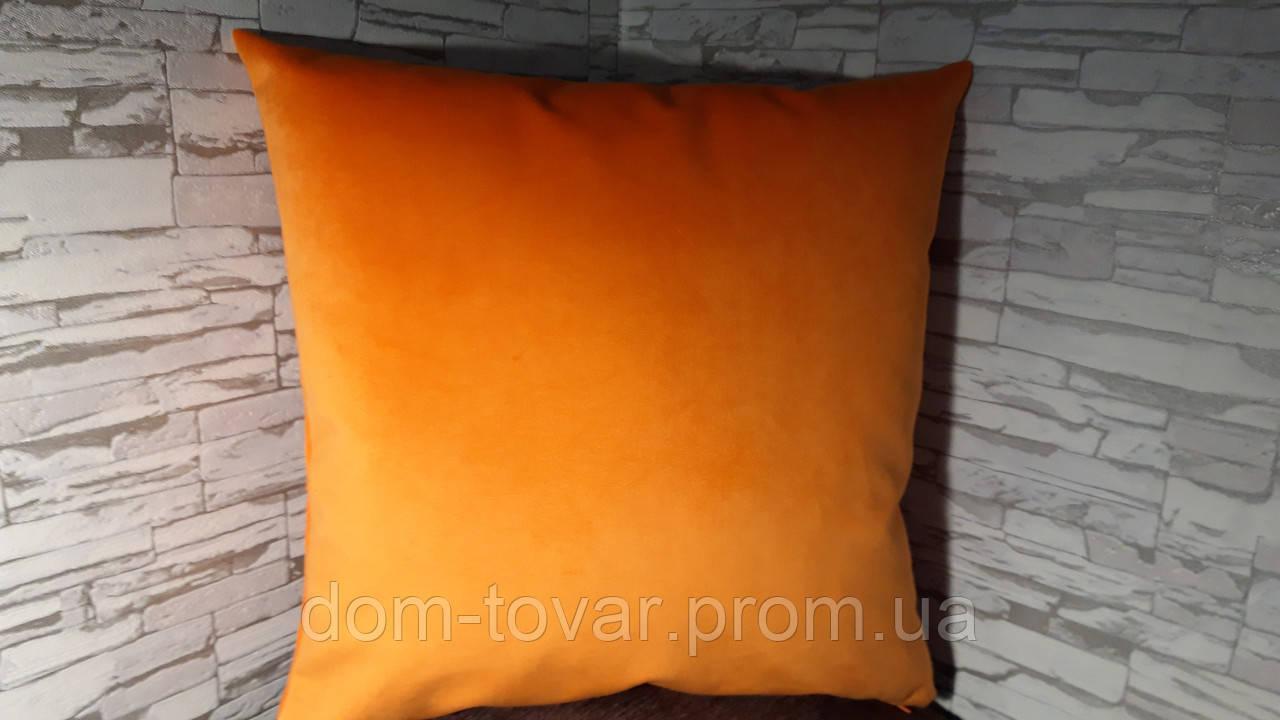 Наволочка декоративная 40х40 оранжевая