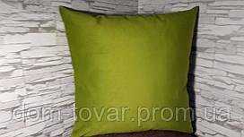 Наволочка декоративная 40х40 зеленая