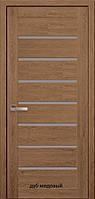 Двері міжкімнатні Мода Леона Новий Стиль ПВХ Ultra зі склом сатин 60, 70, 80, 90