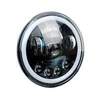 Фари світлодіодні LED 7 дюймів, кругла, 1 шт, 45 Вт (УАЗ, ГАЗ, КамАЗ, Jeep Nissan, FJ Cruiser, Jeep Wrangler)