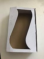 Коробка для печива з вікном 210*135*50 мм коричнева
