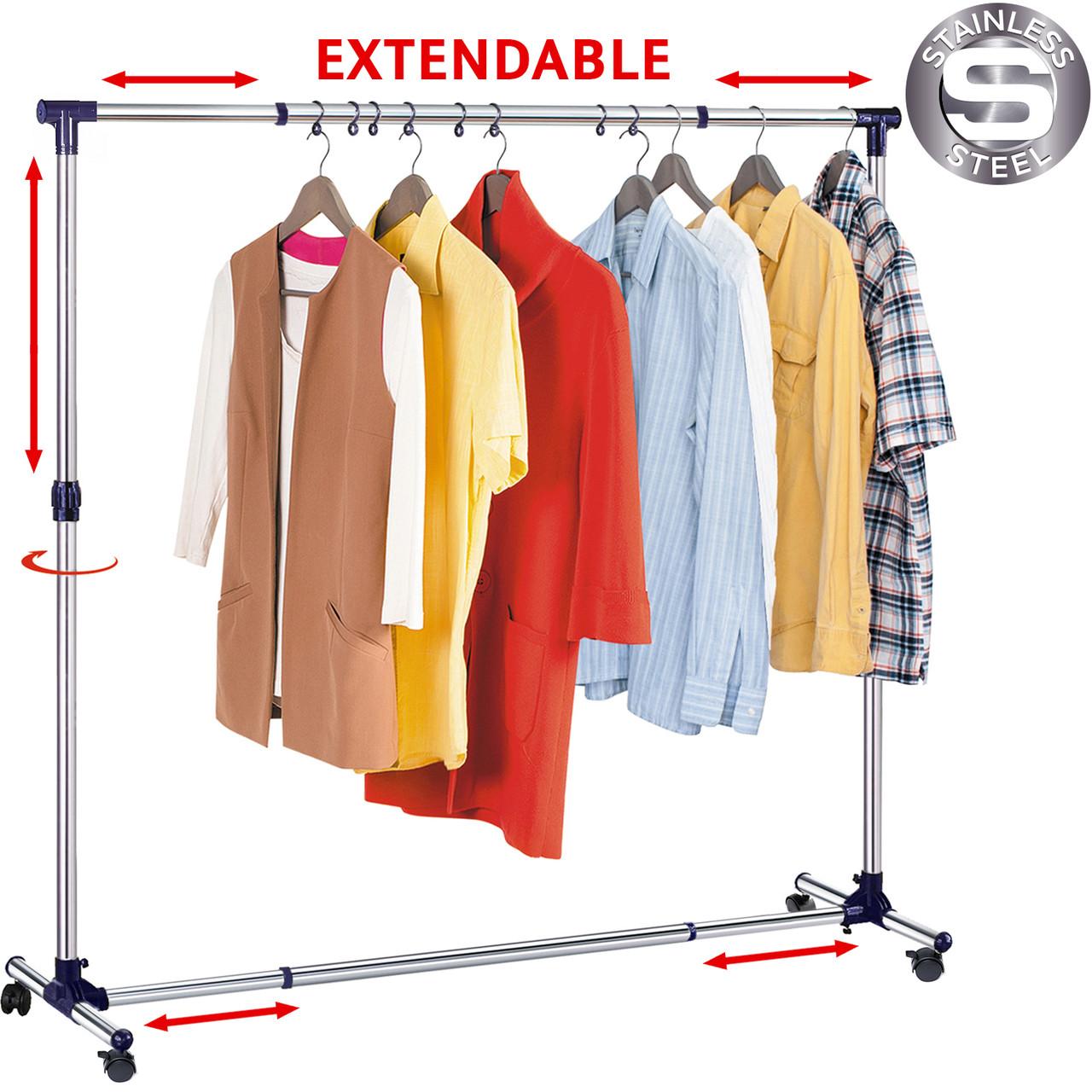 Стойка для одежды раздвижная в ширину Tatkraft  New York 16095