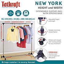 Стойка для одежды раздвижная в ширину Tatkraft  New York 16095, фото 3