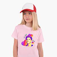 Дитяча футболка для дівчаток блогер Влад Папір А4 (blogger Vlad A4) (25186-2622) Рожевий