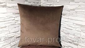 Наволочка декоративная 40х40 коричневая