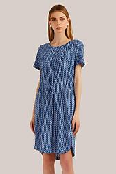 Летнее платье Finn Flare S19-110126-147 миди синее