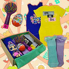Подарочный набор для детей: девочек, дочки, племянницы, сестры, 6 в 1, комплект бокс ко дню рождения (60р)