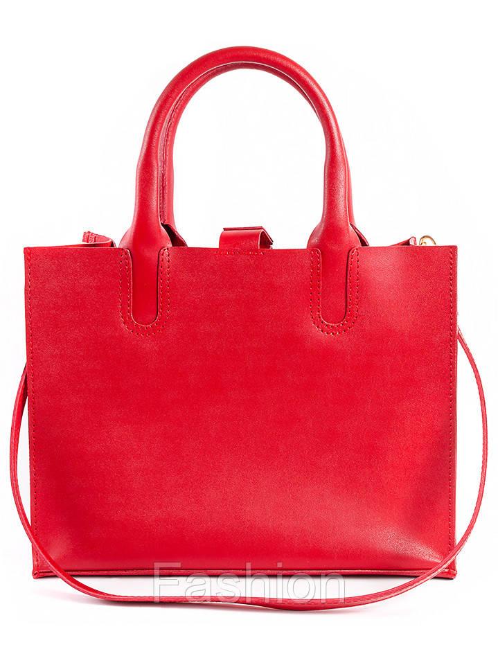 Кожаная сумка красная Sollo 6761-11