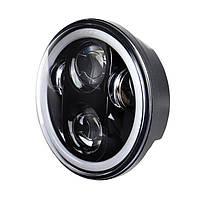 Фара мото LED 5,75 дюймів DL-557E (Black) 35