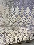 Красивая тюль на основе турецкого фатина в спальню. Цвета: Молочный, фото 2